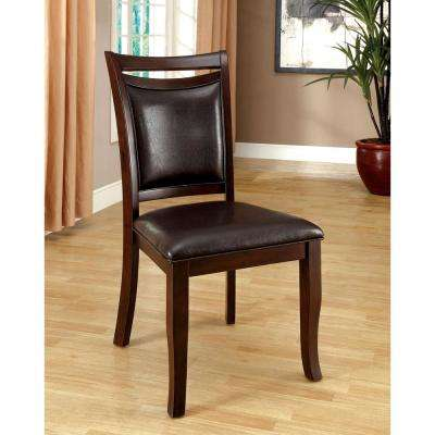 Woodside Dark Cherry and Espresso Transitional Style Side Chair
