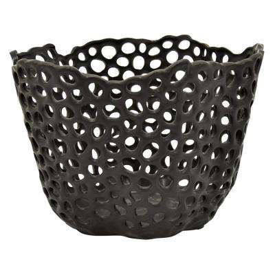 10 in. Black Ceramic Bowl