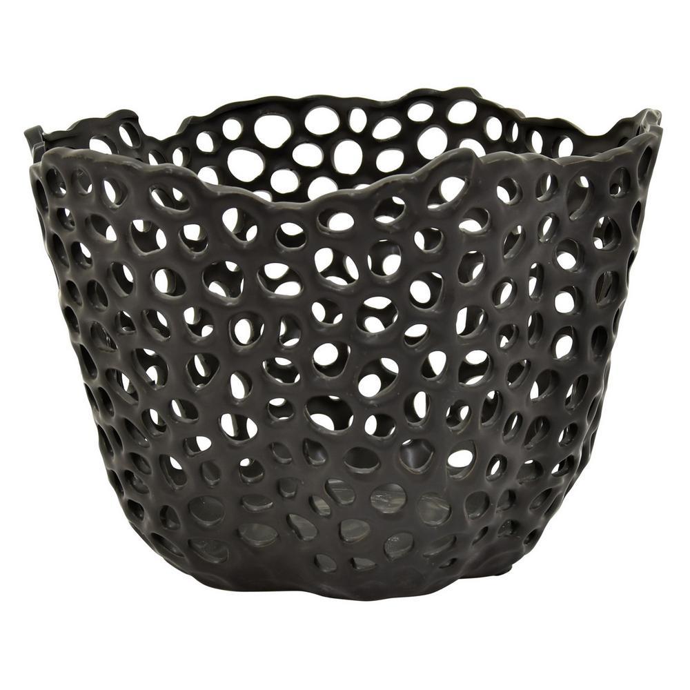 10 in. Black Ceramic Bowl