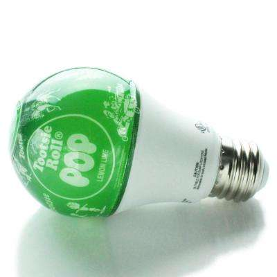 40-Watt Equivalent Soft White A19 LED Tootsie Pop Lemon Lime Light Bulb