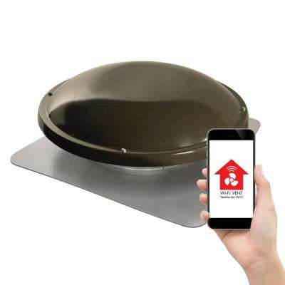 1250 CFM Smart Power Roof Mount Attic Fan in Weathered Wood