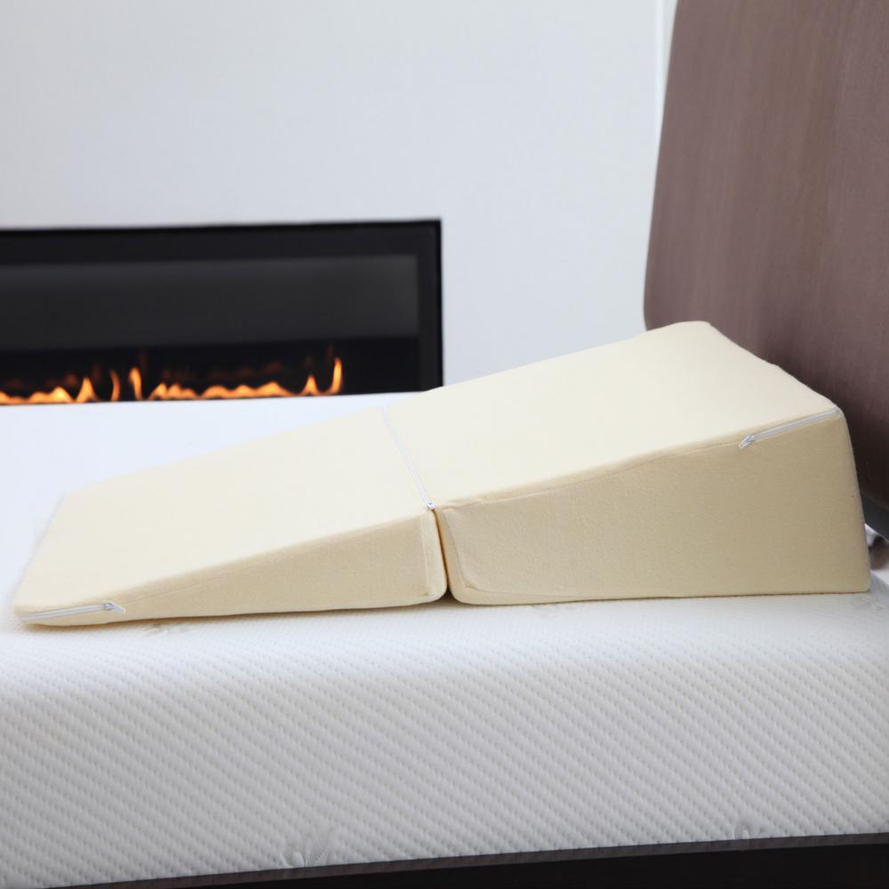 Folding Memory Foam Standard Wedge Pillow