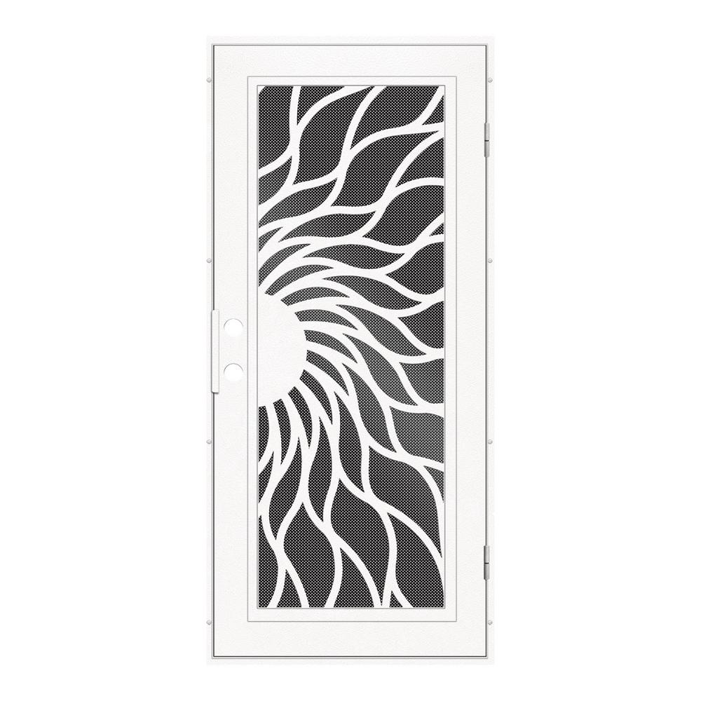 Unique Home Designs 36 in. x 80 in. Sunfire White Right-Hand Surface ...