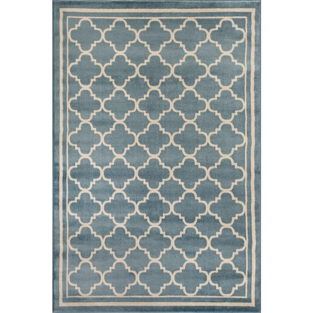 world rug gallery trellis contemporary modern design blue 3 ft 3