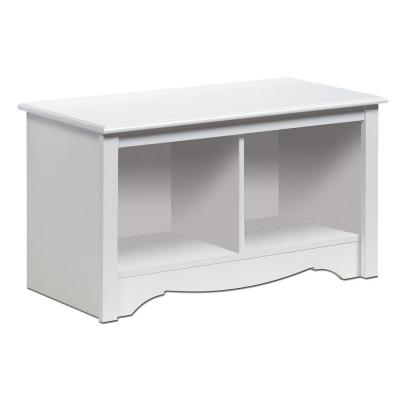 Monterey White Storage  Bench