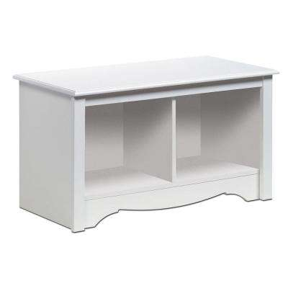 Monterey White Storage  Bench