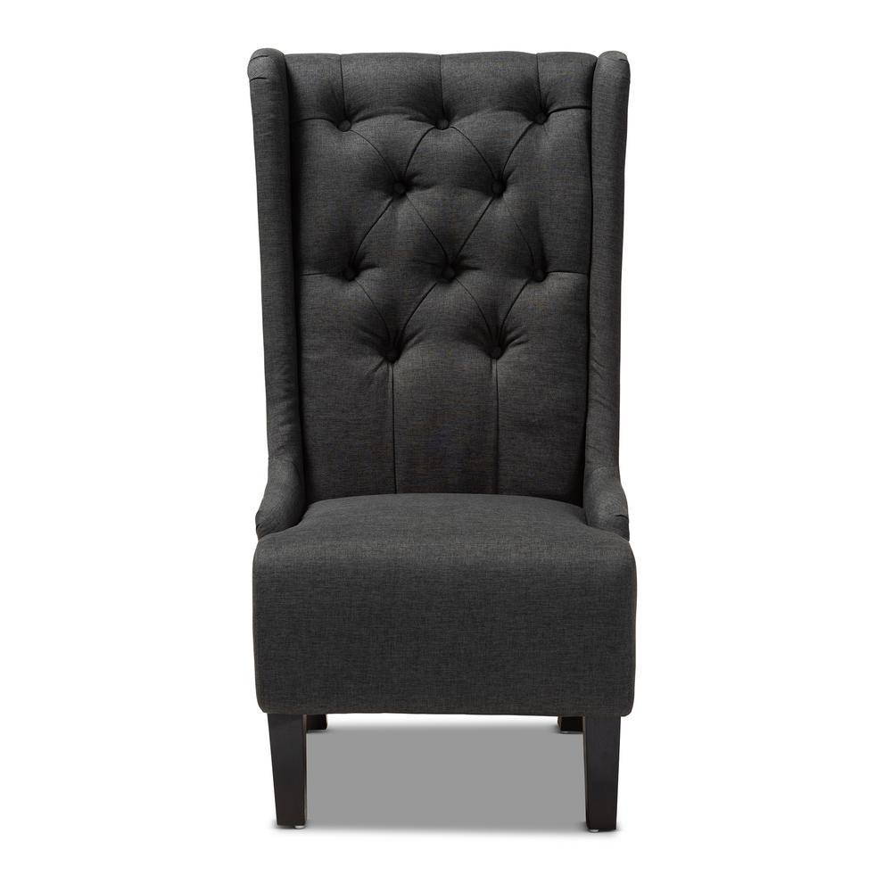 Dorais Charcoal Fabric Accent Chair
