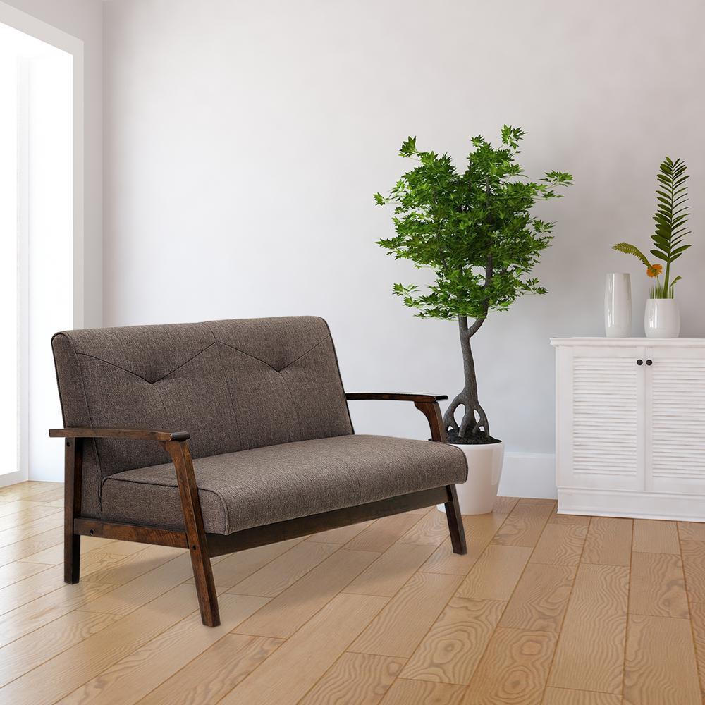 Vintage Style Home Decor Ideas Sydney Cleaning Services: Furinno Mid Century Vintage Compact Dark Brown Loveseat-W857DBR