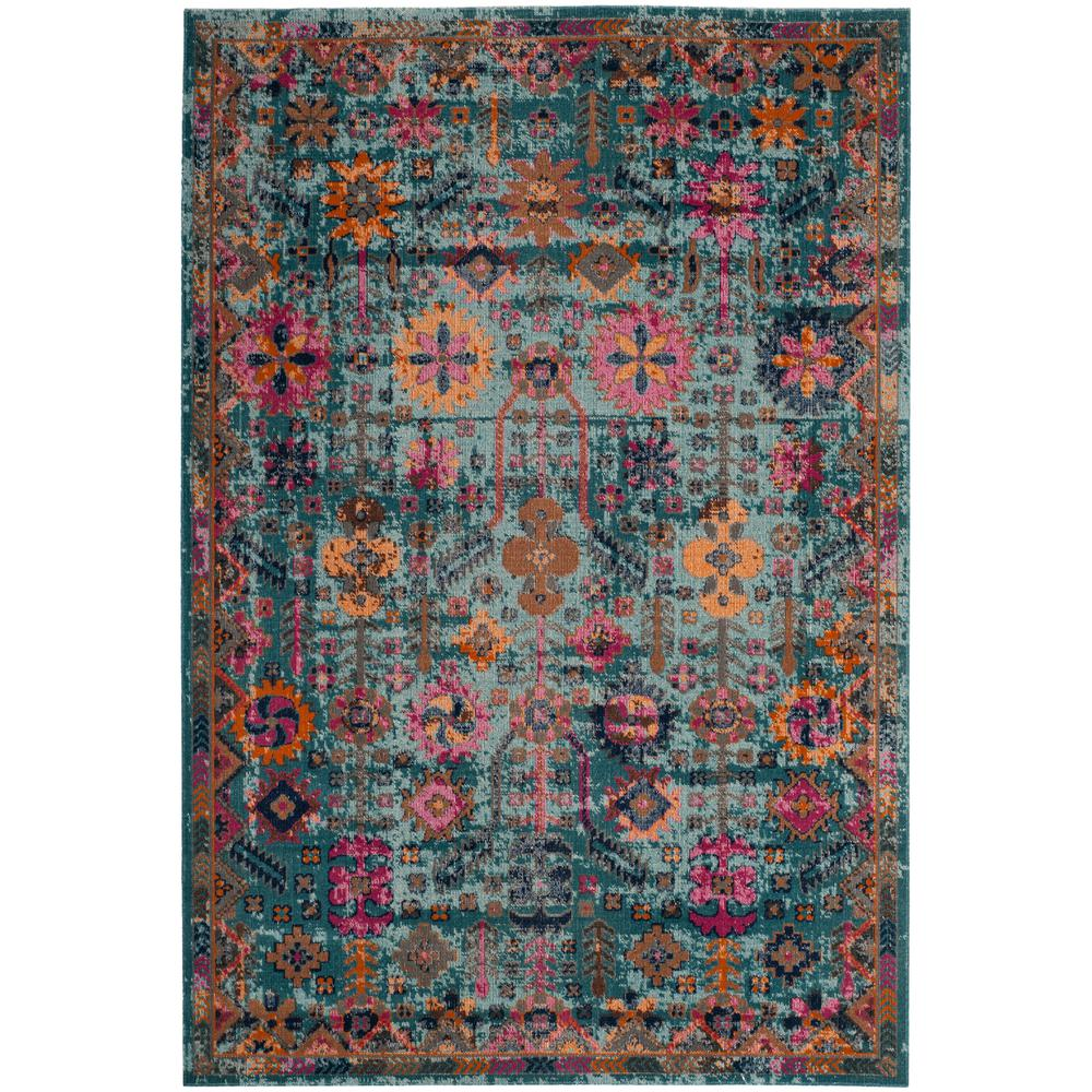 Safavieh Light Blue Multi 8 Ft X 10 Area Rug
