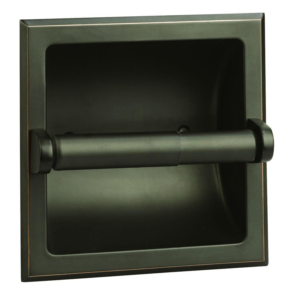 Design House Millbridge Recessed Toilet Paper Holder In Oil Rubbed