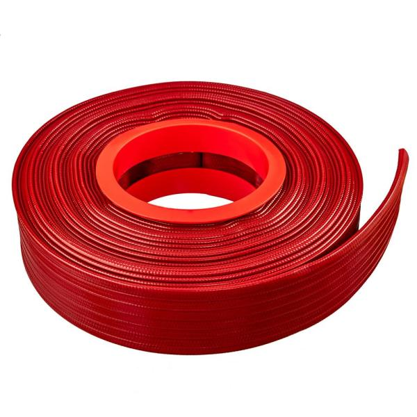 2 in. Dia x 300 ft. Red PVC 10 Bar High Pressure Lay Flat Discharge and Backwash Hose