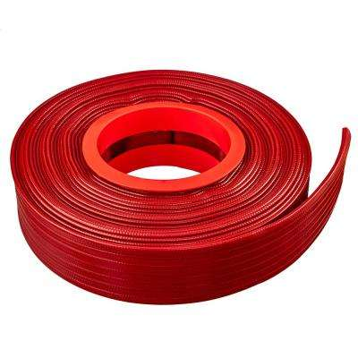 6 in. Dia x 100 ft. Red PVC 10 Bar High Pressure Lay Flat Discharge and Backwash Hose