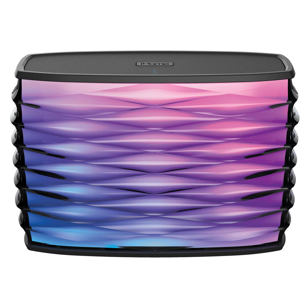 iHome Splashproof Color Changing Rechargeable Bluetooth Stereo Speaker with Speakerphone