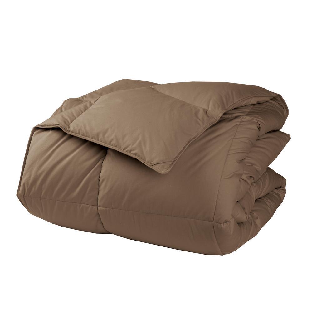 LaCrosse LoftAIRE Medium Warmth Mocha Twin Down Alternative Comforter