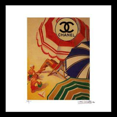 """20 in x 20 in"" ""Shade"" Malibu Beach Chanel ad by Fairchild Paris Framed Printed Wall Art"