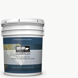 5 gal. Ultra Pure White Satin Enamel Interior Paint and Primer in One