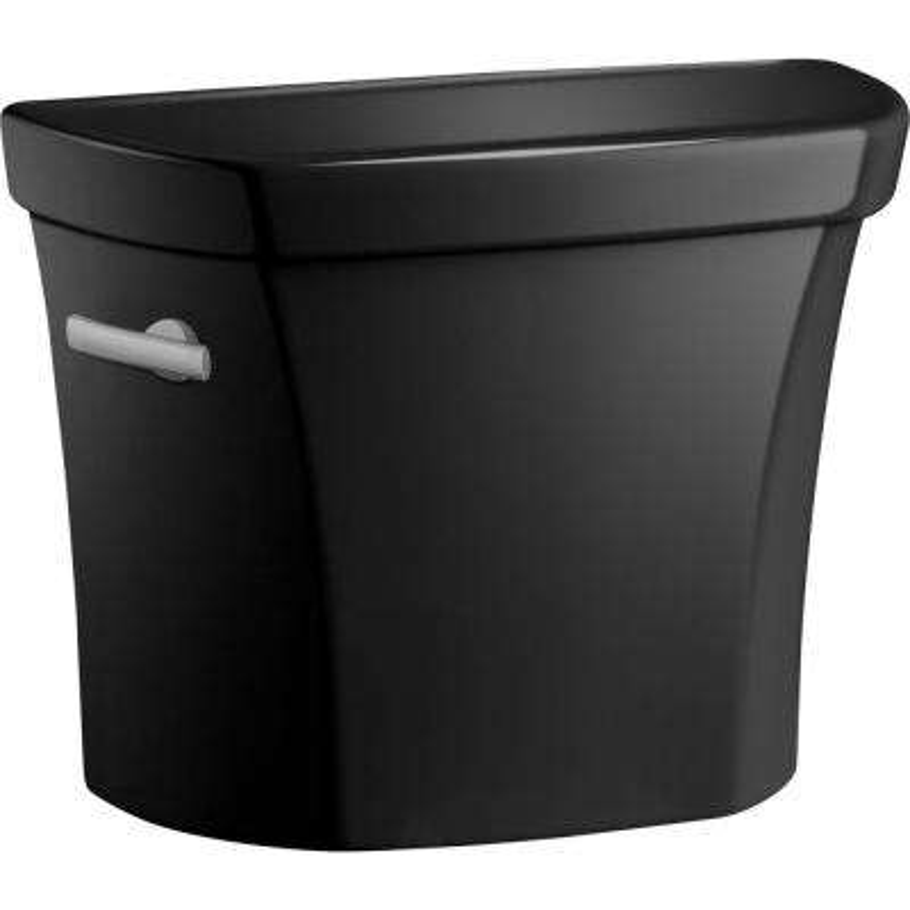 Wellworth 1.6 GPF Single Flush Toilet Tank Only in Black Black
