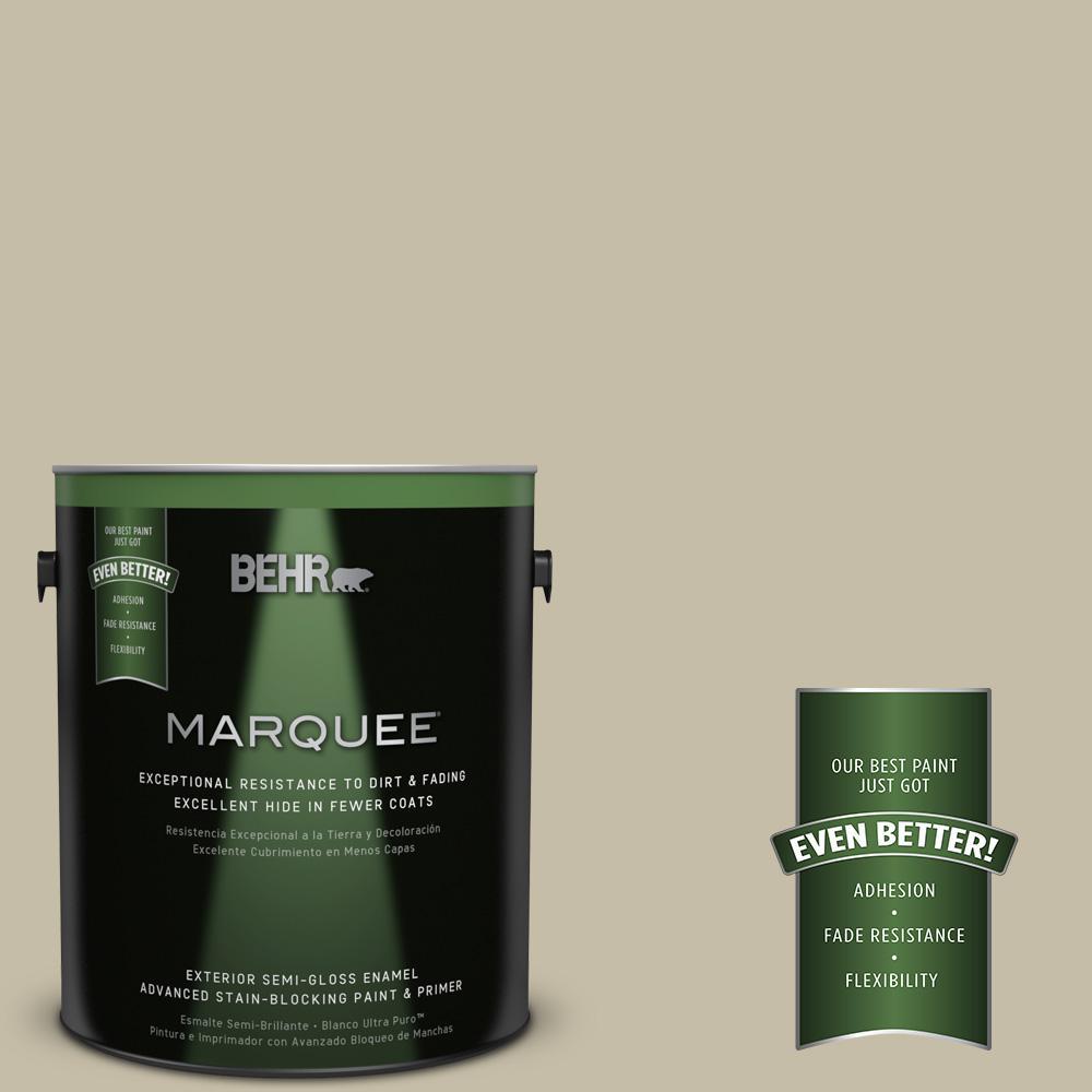 BEHR MARQUEE 1-gal. #PPU8-18 Celery Powder Semi-Gloss Enamel Exterior Paint