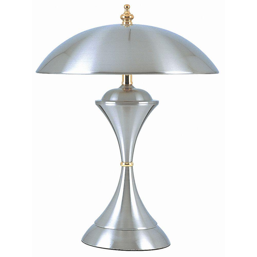 Ore international 15 in silver touch lamp k314 the home depot silver touch lamp mozeypictures Image collections