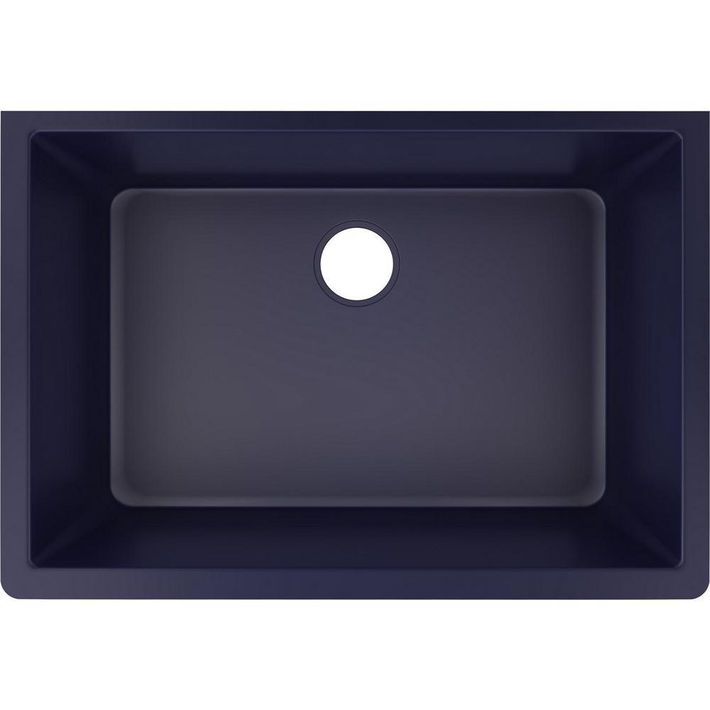 Quartz Luxe Undermount 33 in. Single Bowl Kitchen Sink in Jubilee