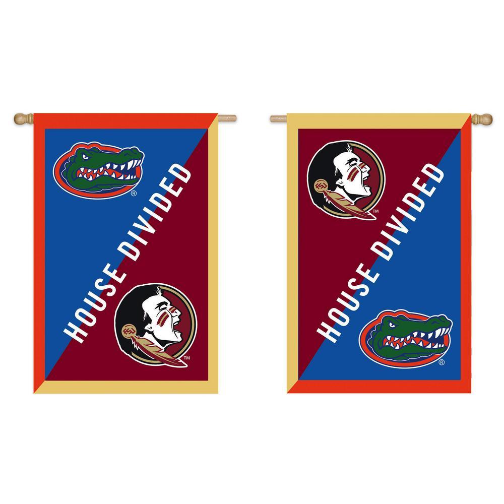 2.4 ft. x 3.6 ft. University of Florida/Florida Sate University Applique House Flag