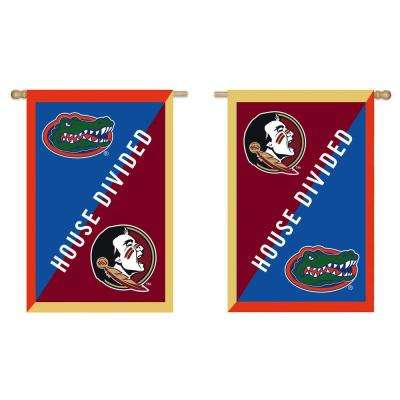 2.4 ft. x 3.6 ft. University of Florida/Florida Sate University Applique House Flag