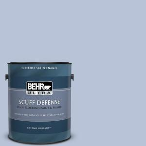 Behr Ultra 1 Gal 610c 3 Virginia Blue Extra Durable Satin Enamel Interior Paint And Primer In One 775001 The Home Depot