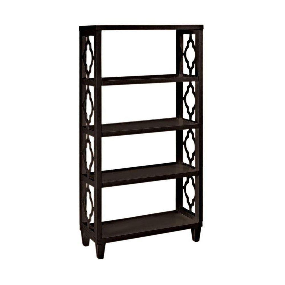 Home Decorators Collection Reflections 28 in. W Storage Shelf in Espresso