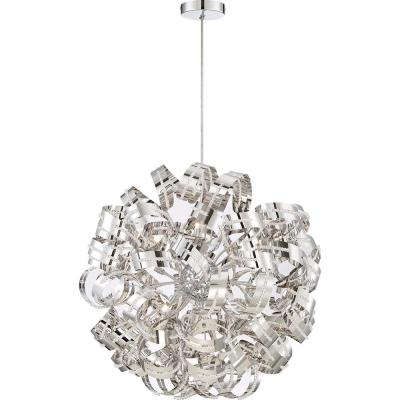 Ribbons 31 in. 12-Light Crystal Chrome Pendant