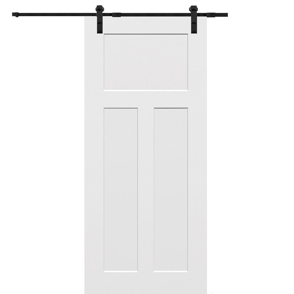 MMI Door 32 In X 80 Primed Craftsman Smooth Surface Solid Core