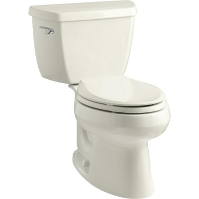 Wellworth Classic 2-piece 1.28 GPF Single Flush Elongated Toilet in Biscuit