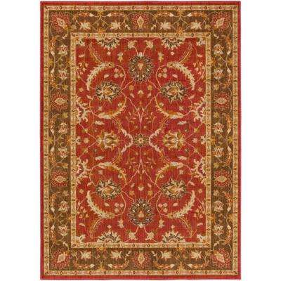 Willow Lodge Bright Red 7 ft. 10 in. x 9 ft. 10 in. Indoor Area Rug