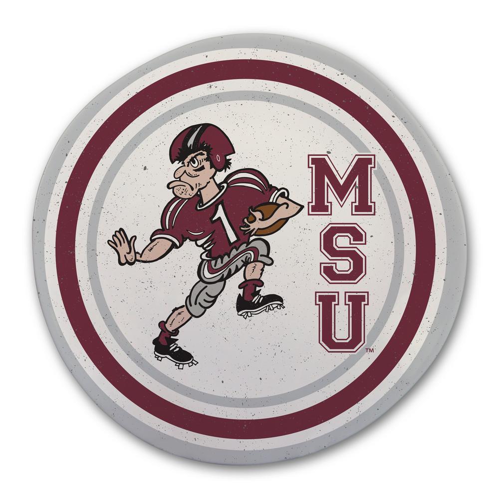 Mississippi State Multicolor Melamine Dinner Plate (Set of 6)