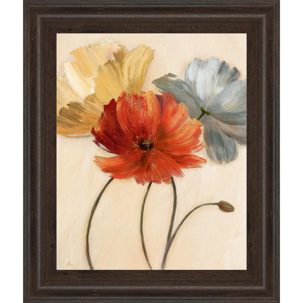 """22 in. x 26 in. """"Poppy Palette I"""" by Nan Framed Printed Wall Art"""