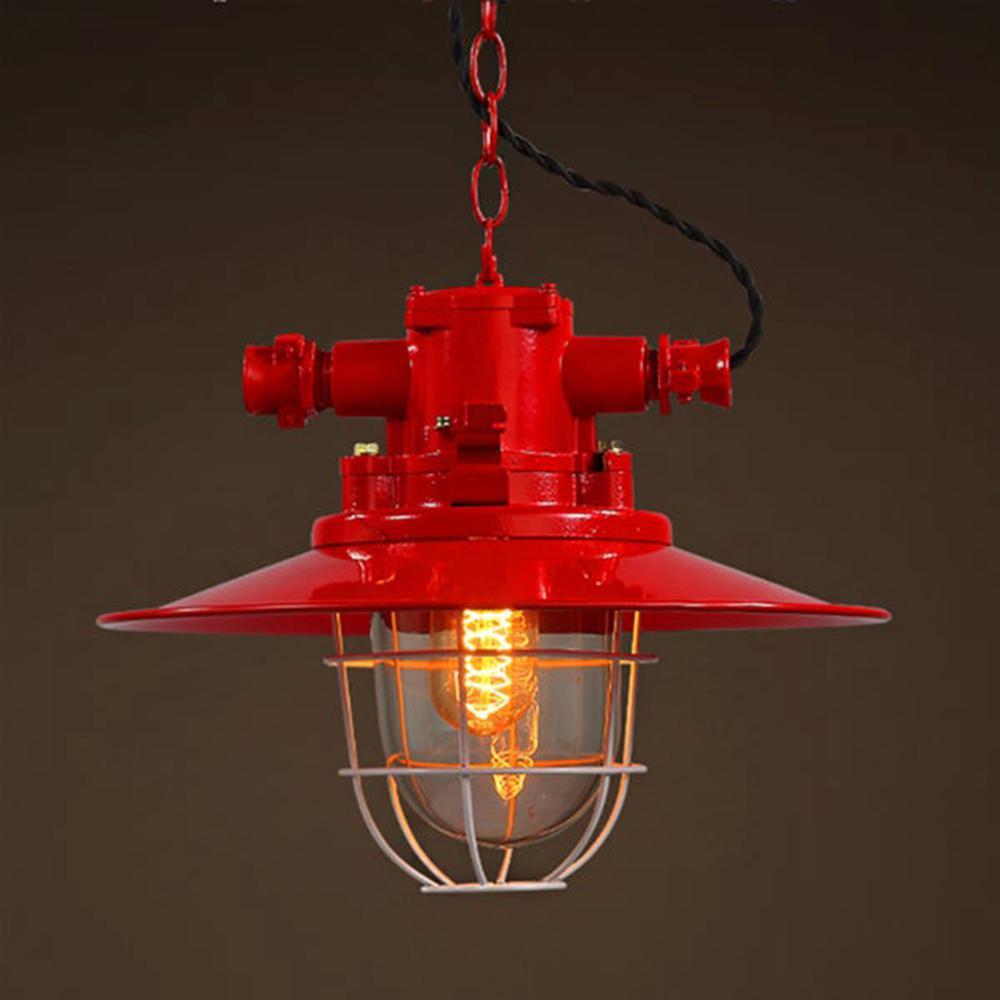 Mystika 10 in. 1-Light Indoor Red Chandelier with Light Kit