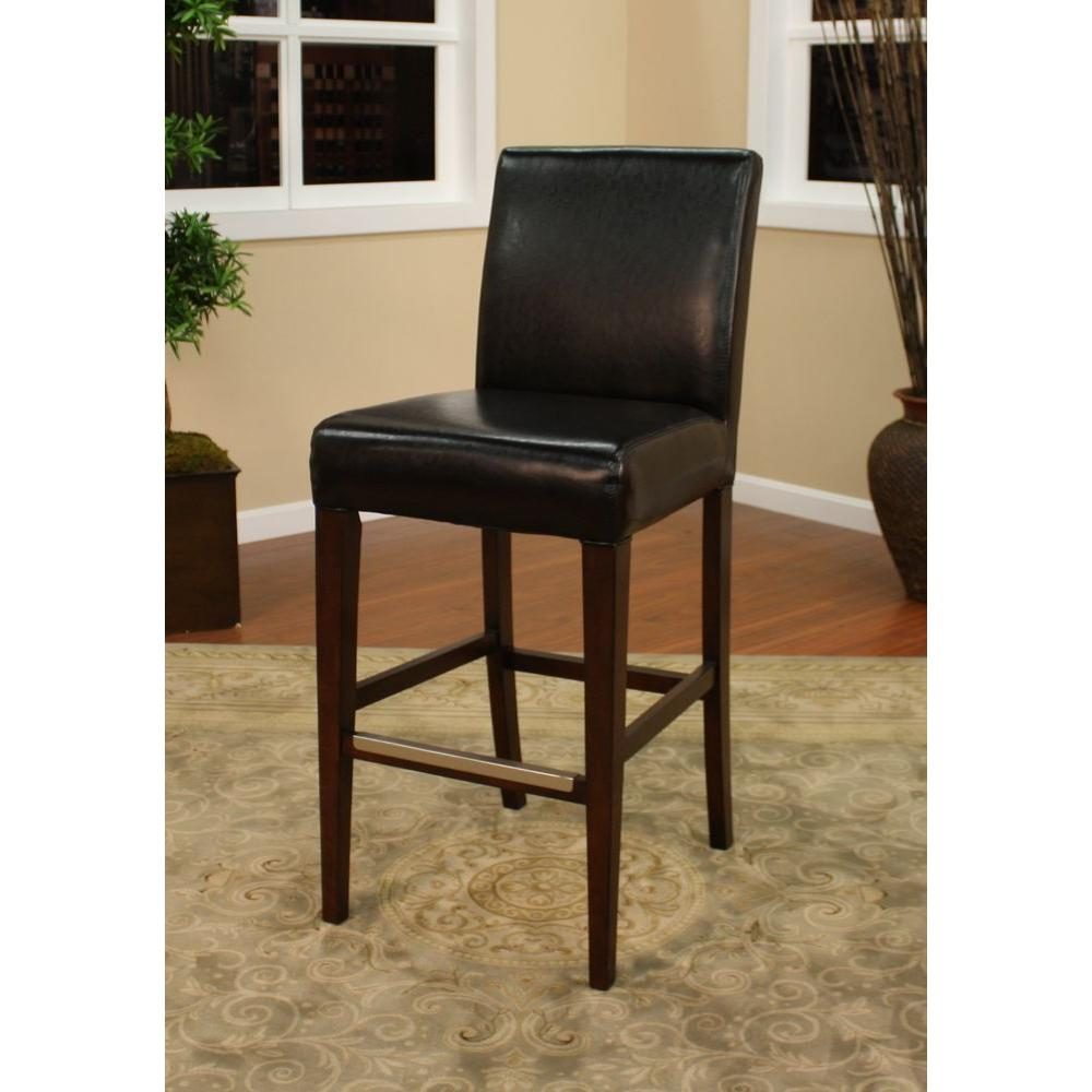 American Heritage Highland 26 In Suede Cushioned Bar Stool Set Of