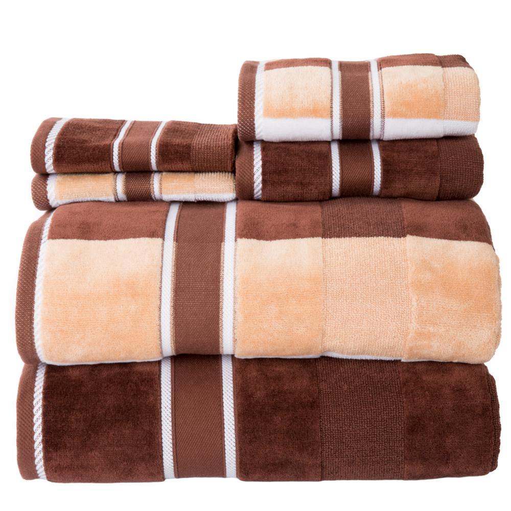 Lavish Home 100 Cotton Oakville Velour Towel Set In