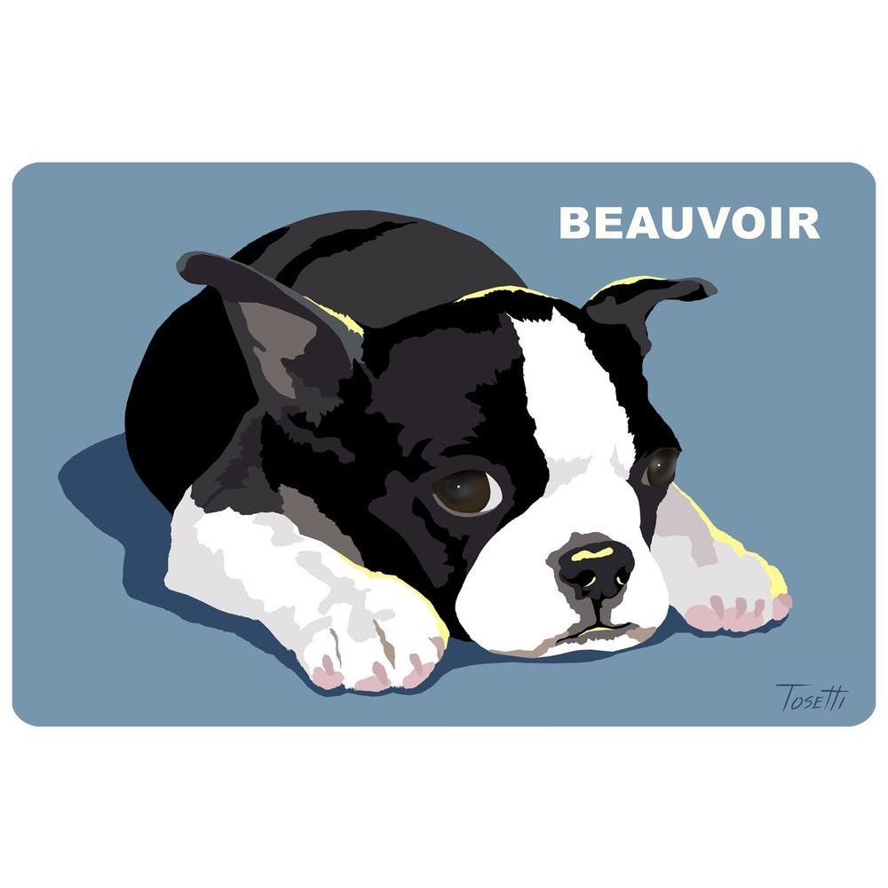 Printed Boston Terrier 35 17.5 in. x 26.5 in. Mat