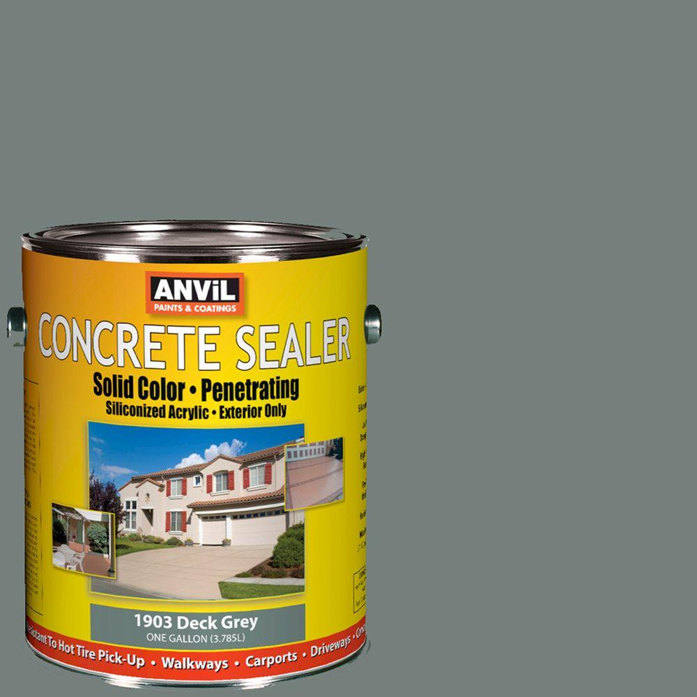 ANViL 1-gal. Deck Grey Siliconized Acrylic Solid Color Exterior Concrete Sealer-DISCONTINUED