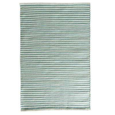 Pencil Stripe Turquoise 2 ft. x 3 ft. Indoor/Outdoor Area Rug