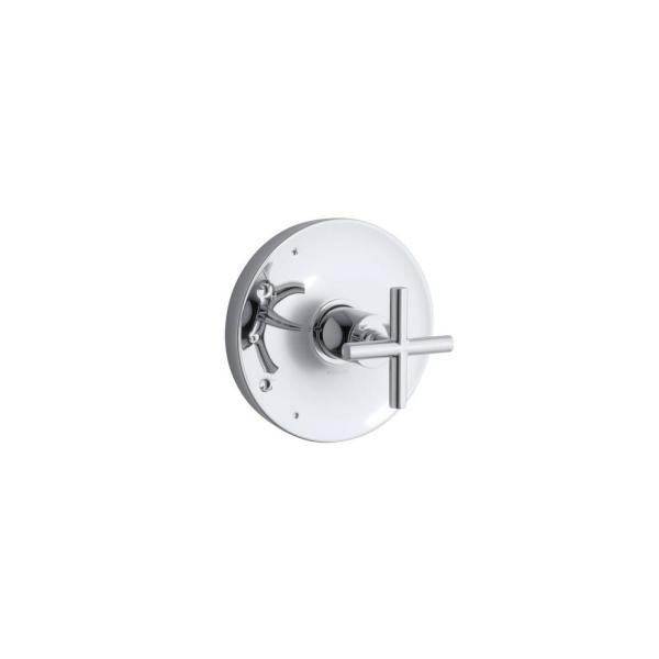 Purist Rite-Temp 1-Handle Tub and Shower Faucet Trim Kit with Cross Handle in Polished Chrome (Valve Not Included)