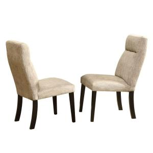 HomeSullivan Powell Beige Chenille Dining Chair (Set Of 2) 405448S2PC   The  Home Depot