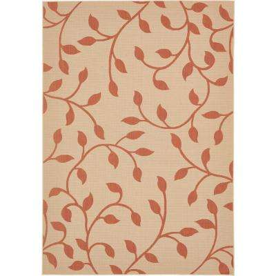 Outdoor Botanical Terracotta 8' 0 x 11' 4 Area Rug