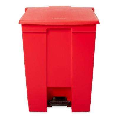 18 Gal. Red Fire-Safe Step-On Medical Trash Can