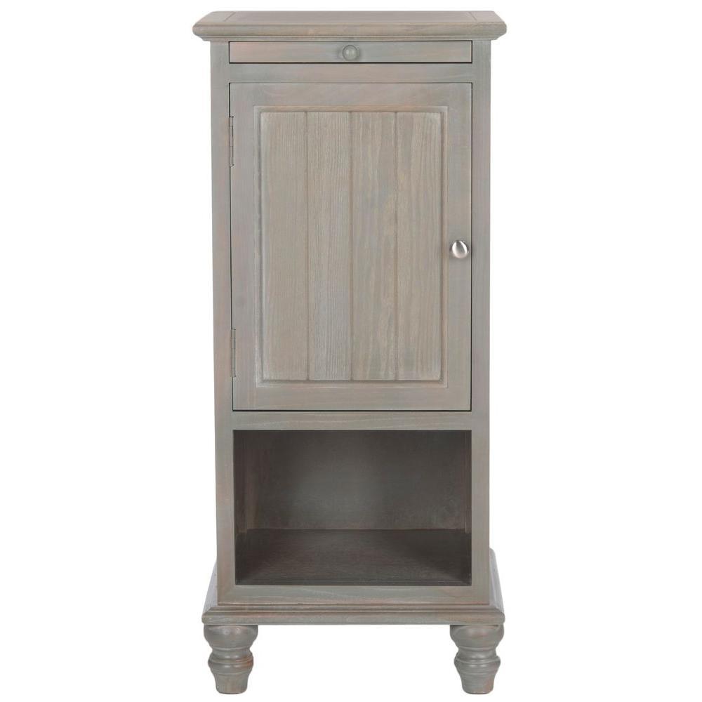 Jezabel Ash Grey Storage End Table