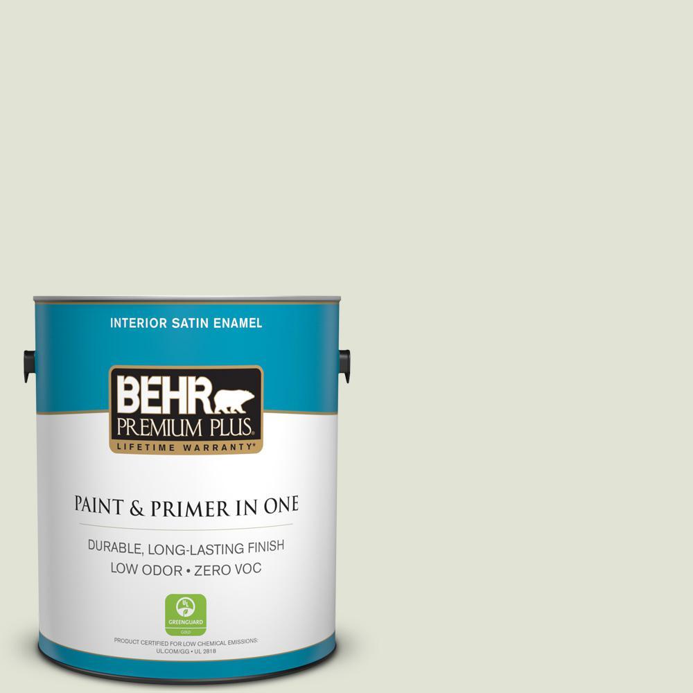1 gal. #MQ3-46 Folly Satin Enamel Zero VOC Interior Paint and