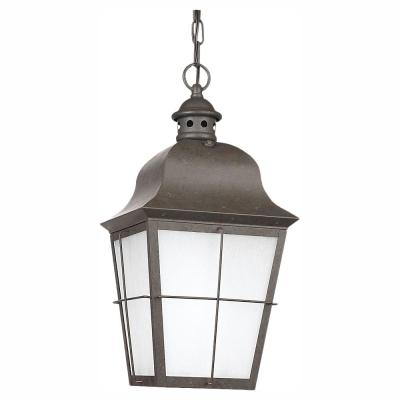 Chatham Ceiling Mount 1-Light Outdoor Oxidized Bronze Hanging Pendant Fixture