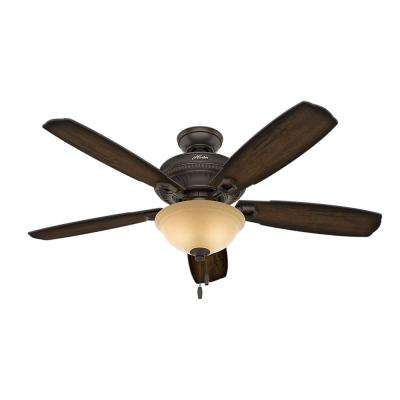 Ambrose 52 in. Indoor Onyx Bengal Bronze Ceiling Fan with Bowl Light