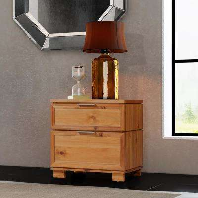 Taxco 2-Drawer Butterscotch Nightstand