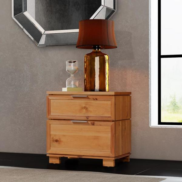 Crawford & Burke Taxco 2-Drawer Butterscotch Nightstand